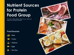Nutrient Sources For Protein Food Group
