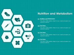 Nutrition And Metabolism Ppt Powerpoint Presentation Slides Graphics Example