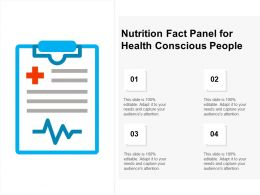Nutrition Fact Panel For Health Conscious People