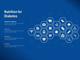 Nutrition For Diabetes Ppt Powerpoint Presentation File Topics