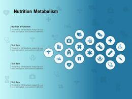 Nutrition Metabolism Ppt Powerpoint Presentation Influencers