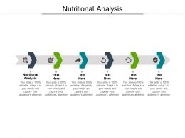 Nutritional Analysis Ppt Powerpoint Presentation Outline Graphics Cpb