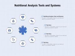 Nutritional Analysis Tools And Systems Ppt Powerpoint Presentation Portfolio Influencers
