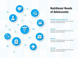 Nutritional Needs Of Adolescents Ppt Powerpoint Presentation Pictures Example