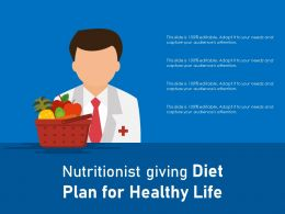 Nutritionist Giving Diet Plan For Healthy Life