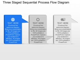 nv Three Staged Sequential Process Flow Diagram Powerpoint Template