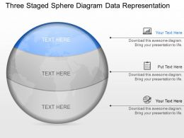 nw Three Staged Sphere Diagram Data Representation Powerpoint Template