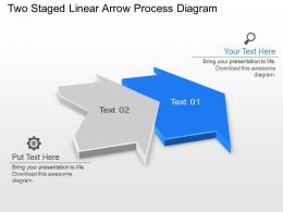 Nw Two Staged Linear Arrow Process Diagram Powerpoint Template Slide