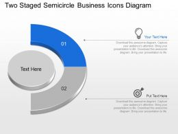 Nx Two Staged Semicircle Business Icons Diagram Powerpoint Template Slide