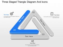 ny Three Staged Triangle Diagram And Icons Powerpoint Template