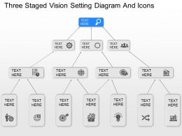 nz Three Staged Vision Setting Diagram And Icons Powerpoint Template