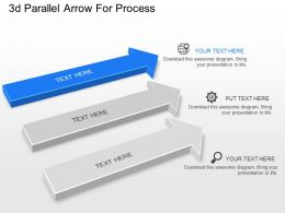 Oa 3d Parallel Arrow For Process Powerpoint Template