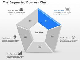 oa Five Segmented Business Chart Powerpoint Template