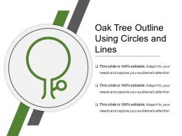 Oak Tree Outline Using Circles And Lines