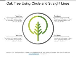 Oak Tree Using Circle And Straight Lines