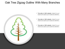 Oak Tree Zigzag Outline With Many Branches