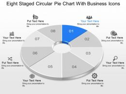 Ob Eight Staged Circular Pie Chart With Business Icons Powerpoint Template