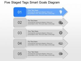 ob Five Staged Tags Smart Goals Diagram Powerpoint Template