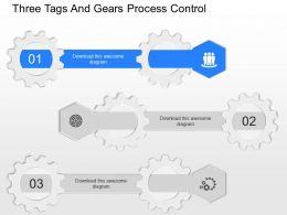 ob Three Tags And Gears Process Control Powerpoint Template