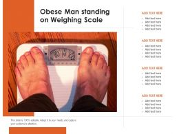Obese Man Standing On Weighing Scale