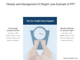 Obesity And Management Of Weight Loss Example Of Ppt