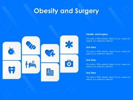 Obesity And Surgery Ppt Powerpoint Presentation Ideas Design Templates