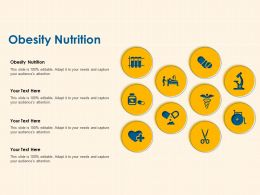 Obesity Nutrition Ppt Powerpoint Presentation Portfolio Ideas