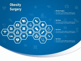 Obesity Surgery Ppt Powerpoint Presentation Infographic Template Show