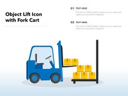 Object Lift Icon With Fork Cart