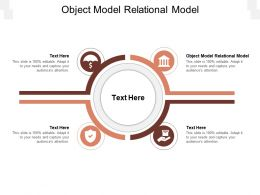 Object Model Relational Model Ppt Powerpoint Presentation Model Rules Cpb