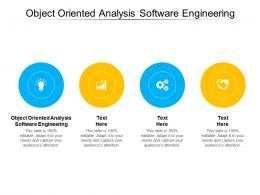 Object Oriented Analysis Software Engineering Ppt Powerpoint Presentation Infographics Cpb