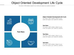 Object Oriented Development Life Cycle Ppt Powerpoint Presentation Gallery Outfit Cpb