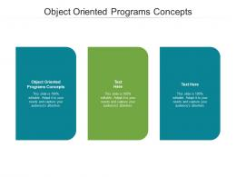 Object Oriented Programs Concepts Ppt Powerpoint Presentation Model Samples Cpb