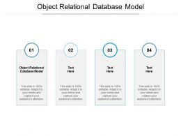 Object Relational Database Model Ppt Powerpoint Presentation Ideas Graphics Pictures Cpb