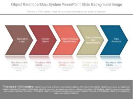 Object Relational Map System Powerpoint Slide Background Image