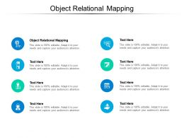 Object Relational Mapping Ppt Powerpoint Presentation Icon Graphic Images Cpb