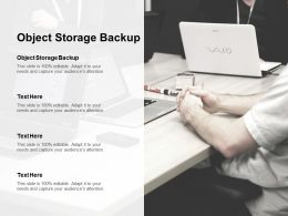 Object Storage Backup Ppt Powerpoint Presentation Gallery Skills Cpb