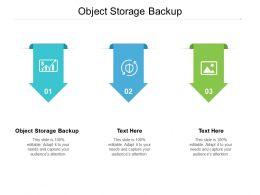 Object Storage Backup Ppt Powerpoint Presentation Inspiration Slide Cpb