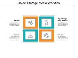 Object Storage Media Workflow Ppt Powerpoint Presentation Icon Deck Cpb
