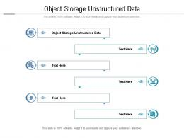 Object Storage Unstructured Data Ppt Powerpoint Presentation Outline Graphics Download Cpb