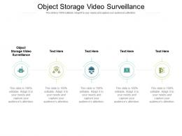 Object Storage Video Surveillance Ppt Powerpoint Presentation Pictures Graphics Cpb