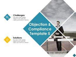 Objection And Compliance Challenges Solutions Ppt Powerpoint Presentation File Brochure