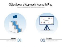 Objective And Approach Icon With Flag