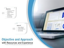 Objective And Approach With Resources And Experience