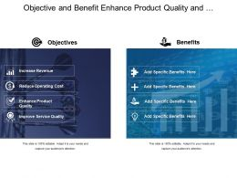 Objective And Benefit Enhance Product Quality And Images