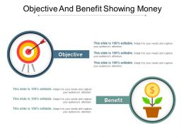 Objective And Benefit Showing Money Good Ppt Example