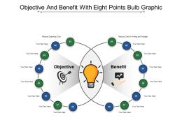 Objective And Benefit With Eight Points Bulb Graphic