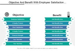 Objective And Benefit With Employee Satisfaction And Financial Strength