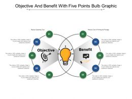 Objective And Benefit With Five Points Bulb Graphic