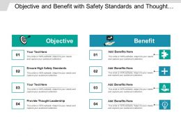 Objective And Benefit With Safety Standards And Thought Leadership